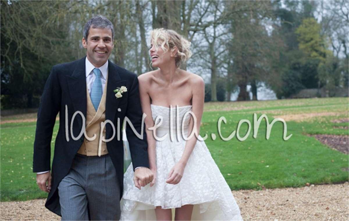 Alessia e Paolo felici dopo la cerimonia religiosa