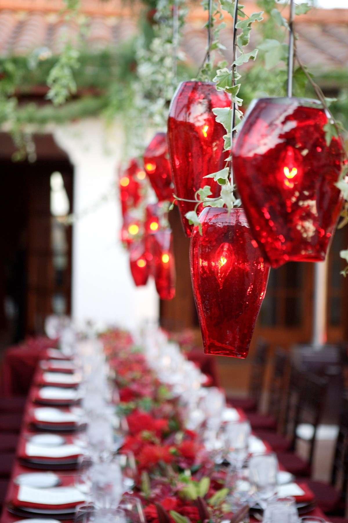 Candelabri fai da te per la tavola di Capodanno