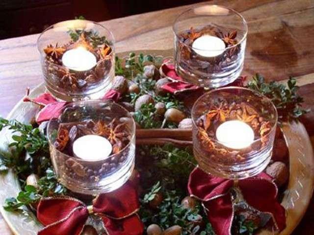 Centrotavola con le candele per Capodanno