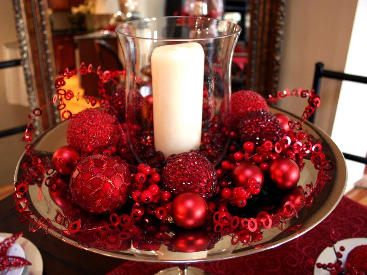 Centrotavola sul rosso per Capodanno
