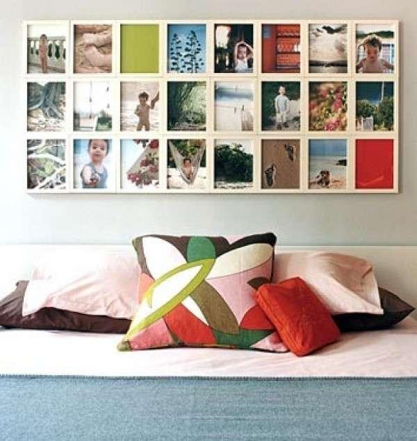 Composizione di foto per la camera da letto