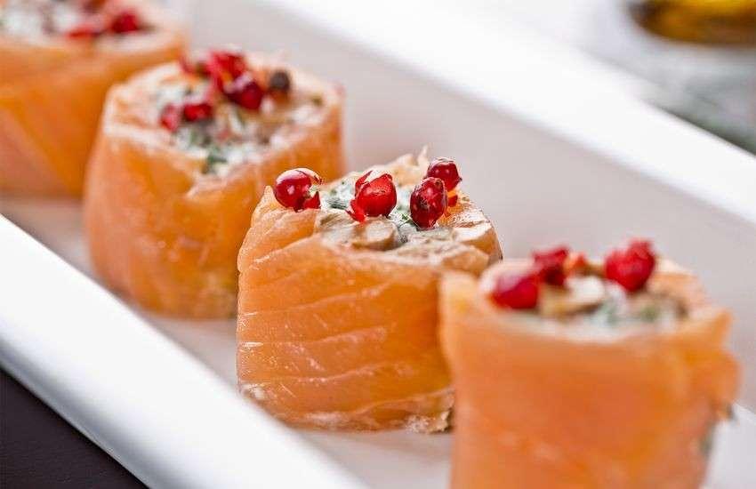 Involtini di salmone e formaggio