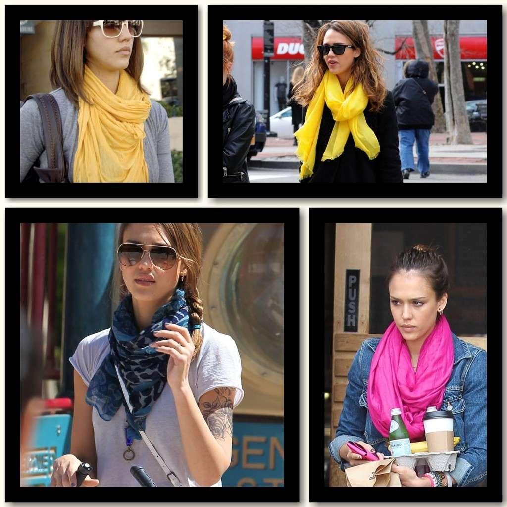 La passione per le sciarpe di Jessica Alba