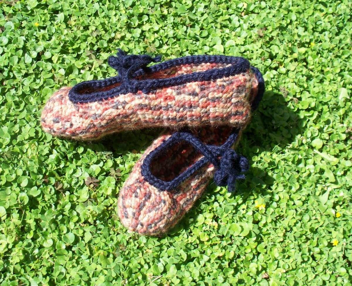 Pantofole all'uncinetto multicolore
