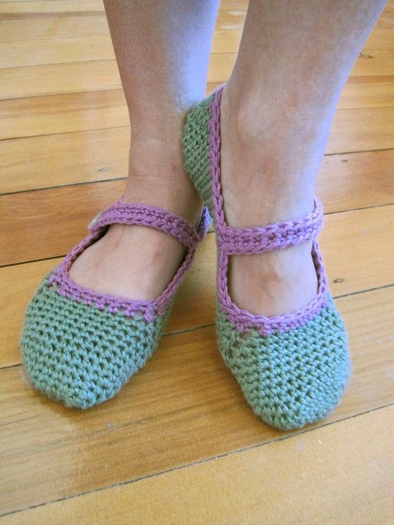 Pantofole crochet con il cinturino