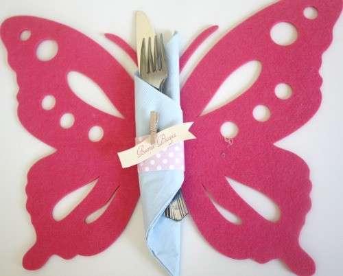 Sottopiatto farfalla