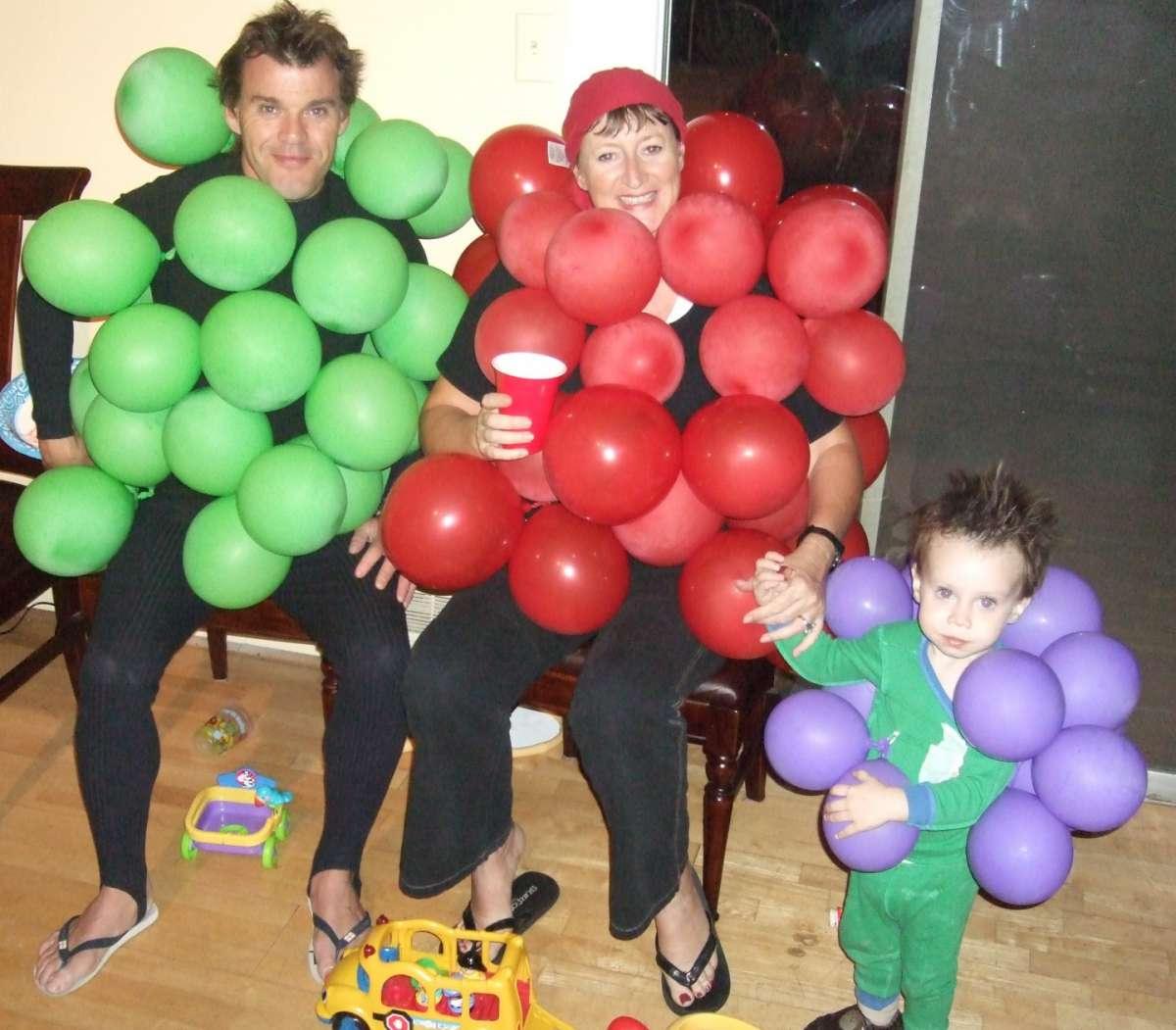 Grappoli d'uva per Carnevale
