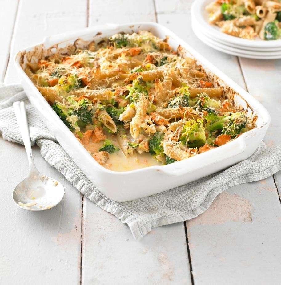 Pasta gratinata con broccoli e formaggio