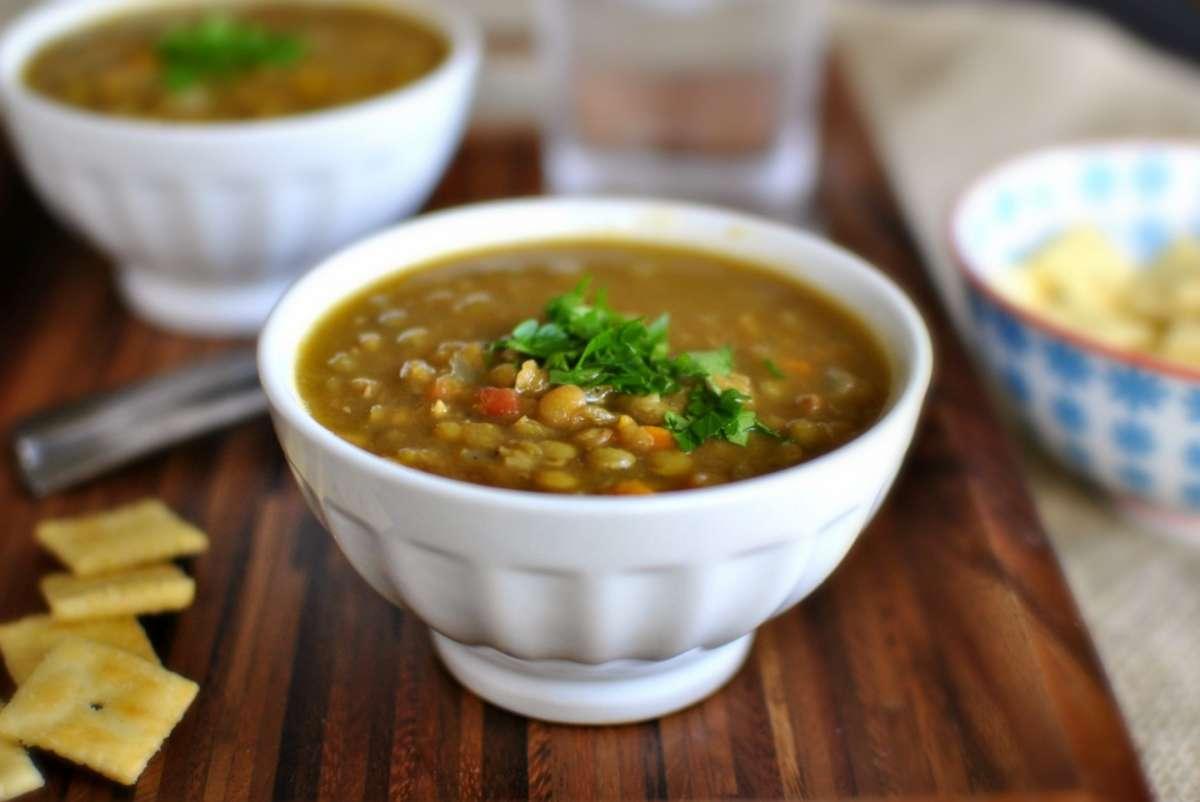 Zuppa di lenticchie semplice