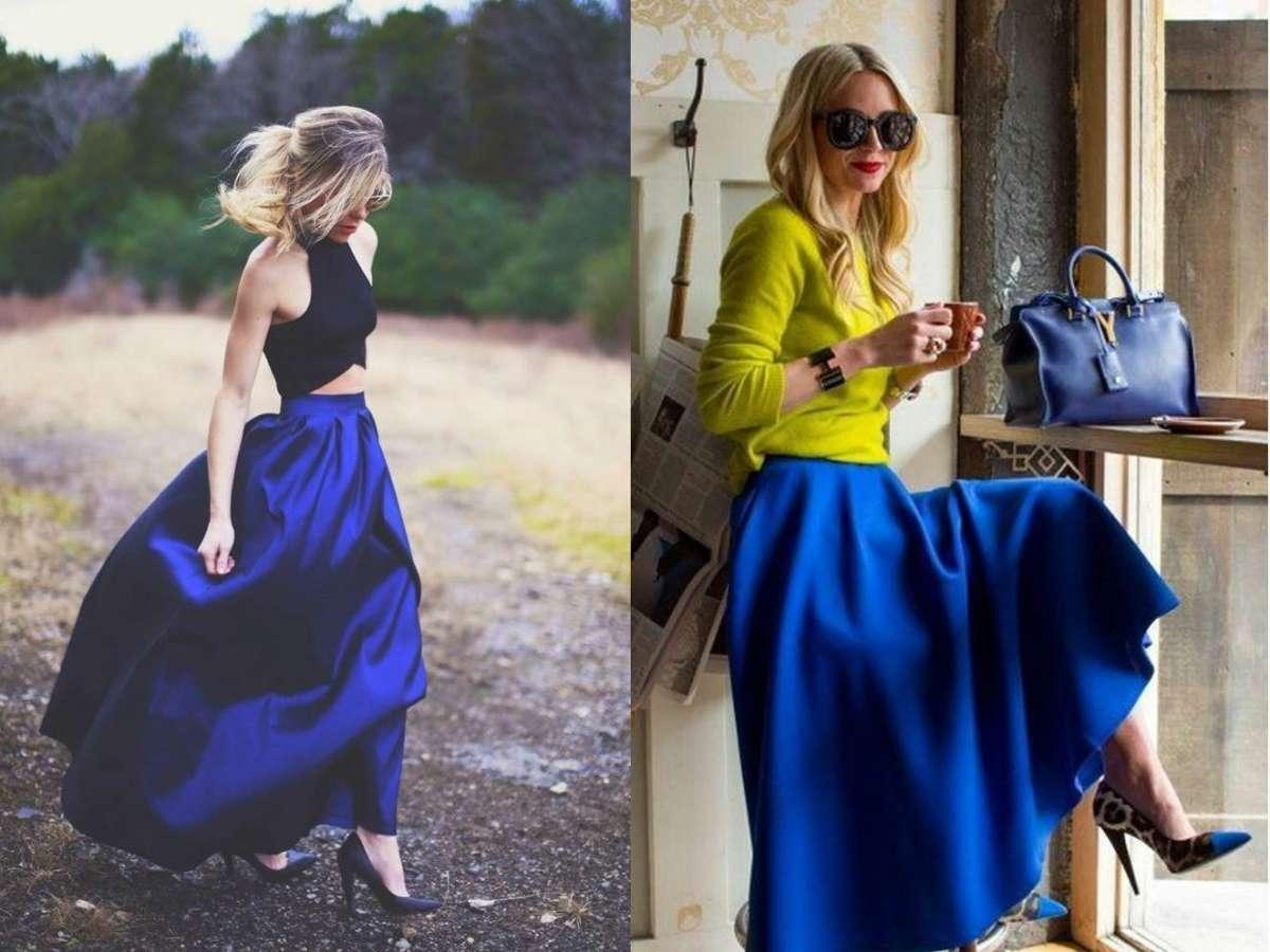 come abbinare giacca blu elettrico.donna