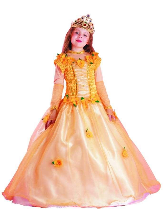 Costume da principessa con i fiori