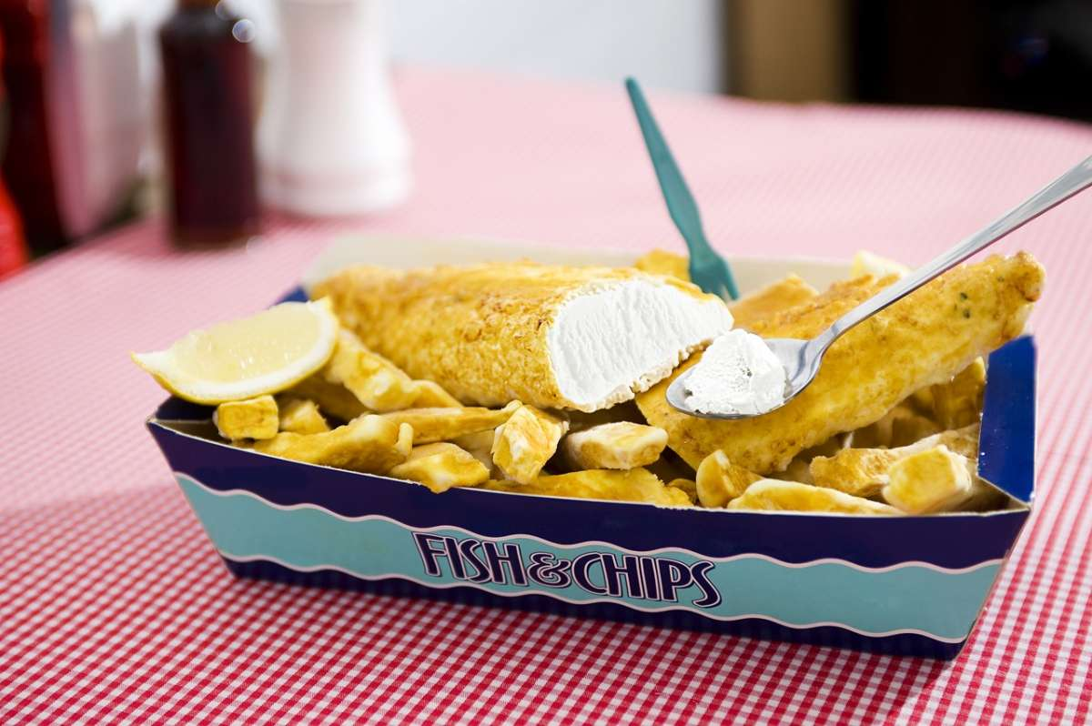 Fish and chips ice cream