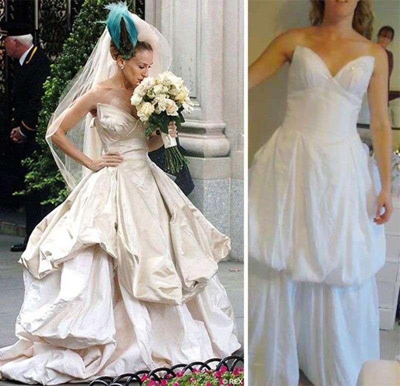 L'abito di Carrie indossato da una donna comune