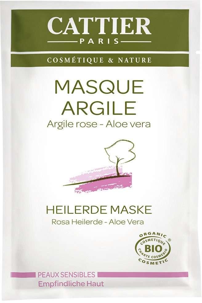 Maschera all'argilla rosa per pelli sensibili Cattier