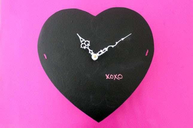 Orologio a forma di cuore