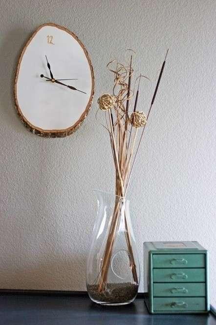 Orologio con un tronco