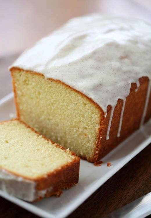 Pound cake glassata