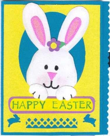 Biglietto con il coniglietto