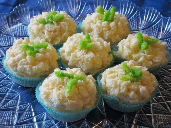 Cupcakes mimosa fatti in casa