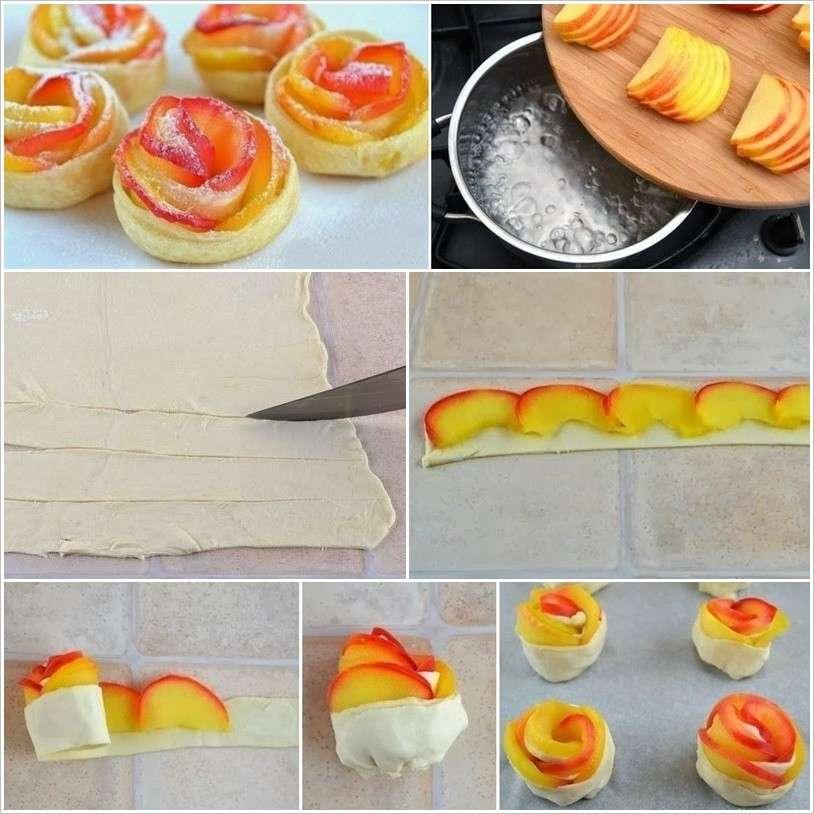 Fasi per realizzare le rose di mele