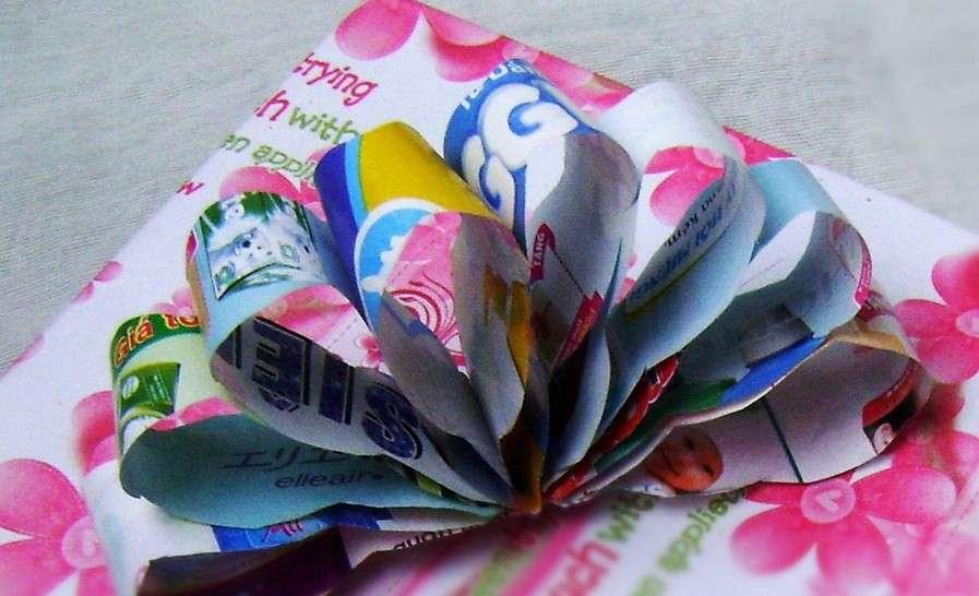 Fiocco regalo di carta da riciclo