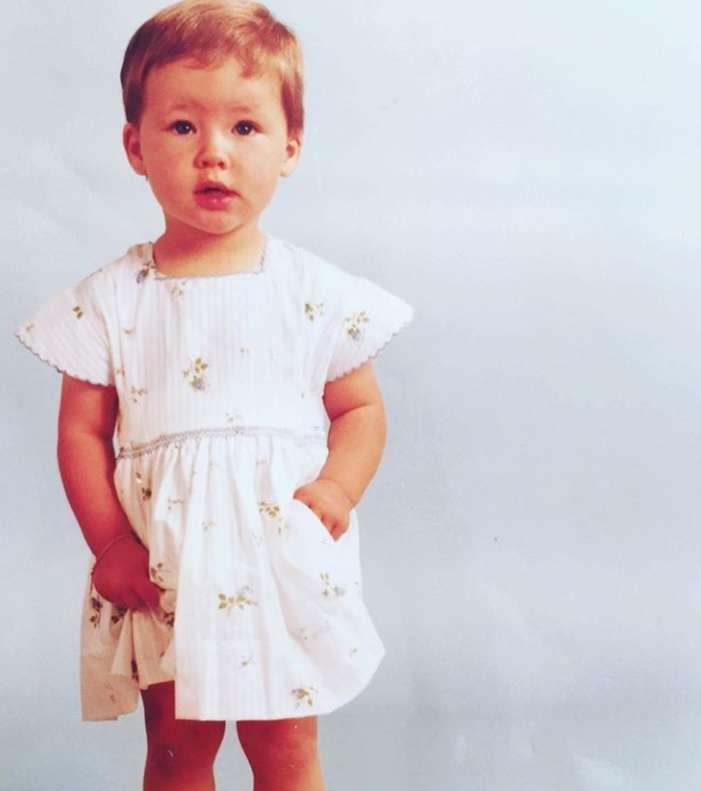 Michelle Hunziker da bambina