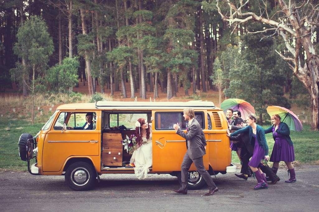 Pullmino hippie per le nozze