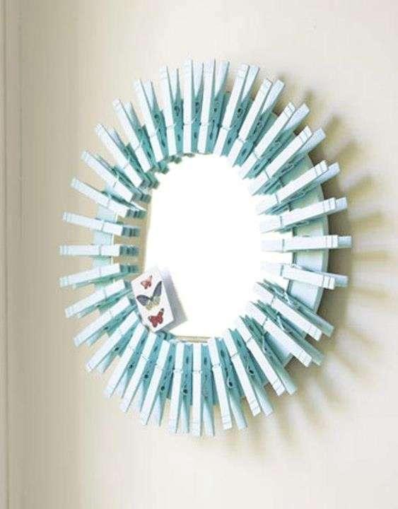 Specchio con mollette