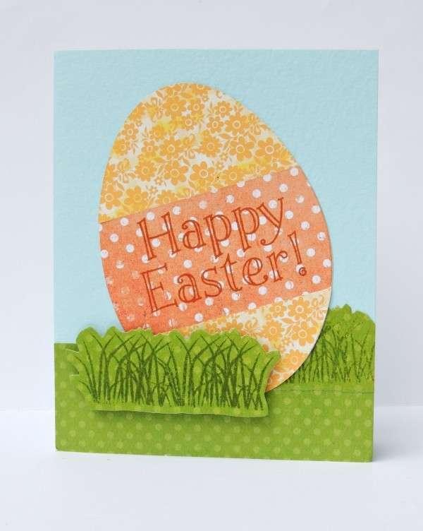Uova di Pasqua sul biglietto