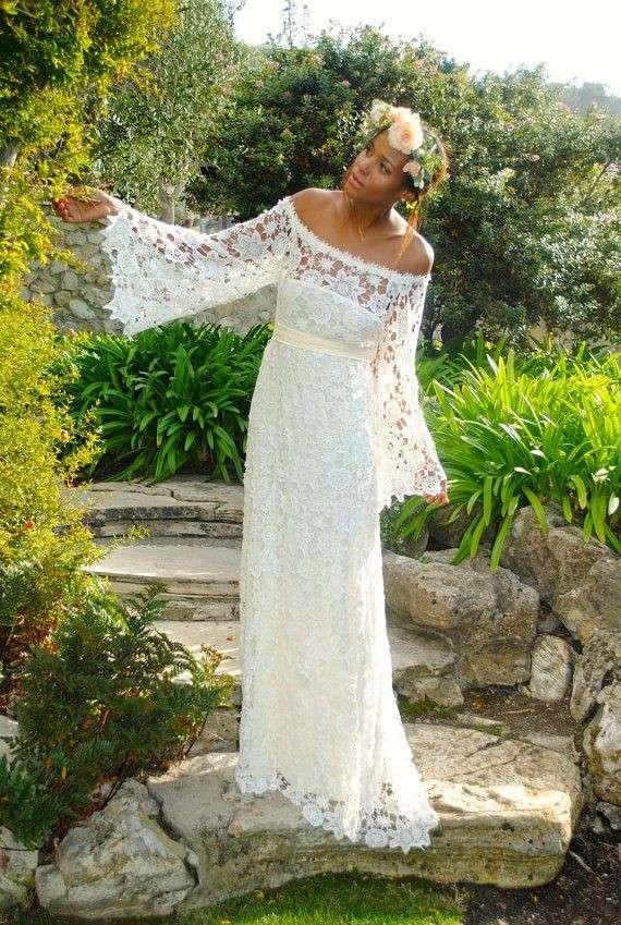 Vestito da sposa ricamato