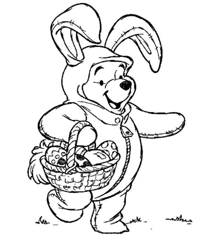 Winnie The Pooh travestito da coniglio