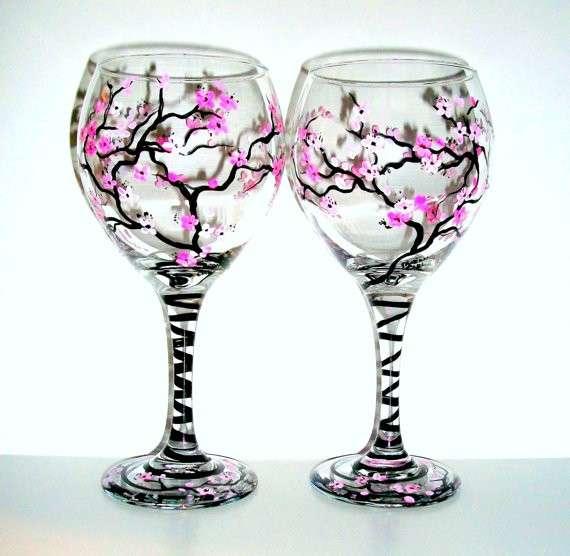 Bicchieri floreali