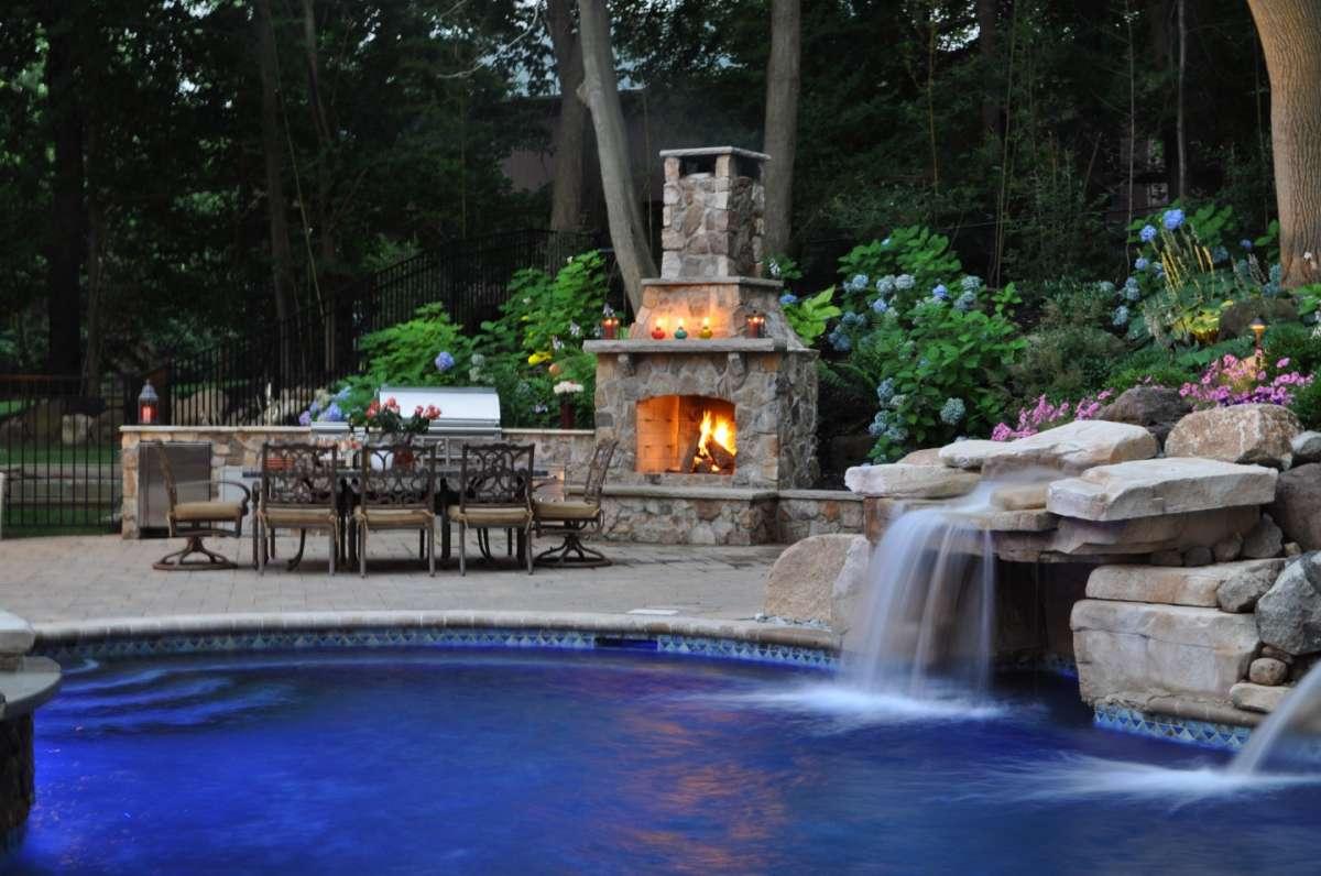 La piscina in muratura