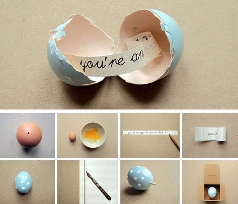 Messaggio a soprese per le uova