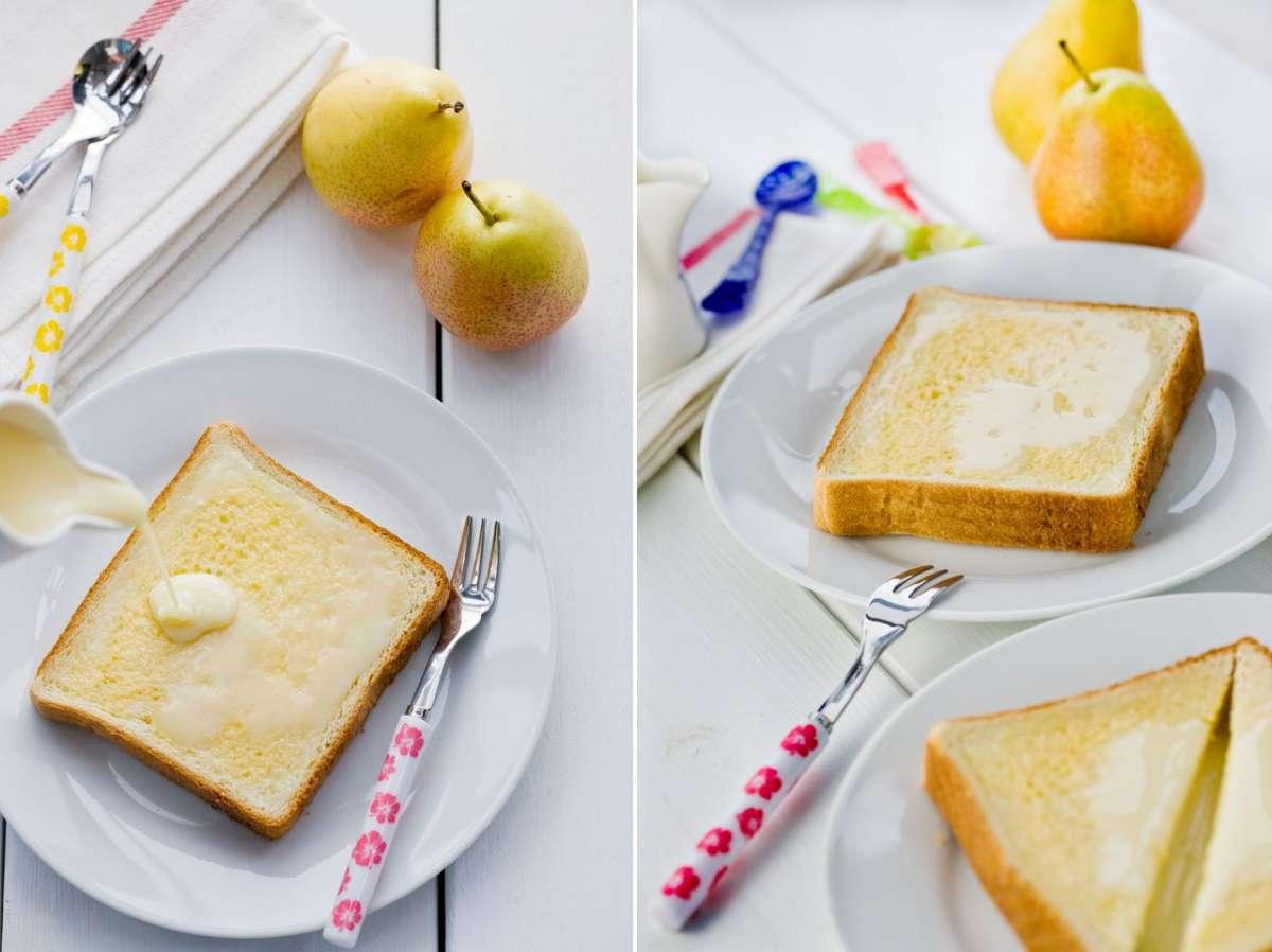 Toast con latte condensato