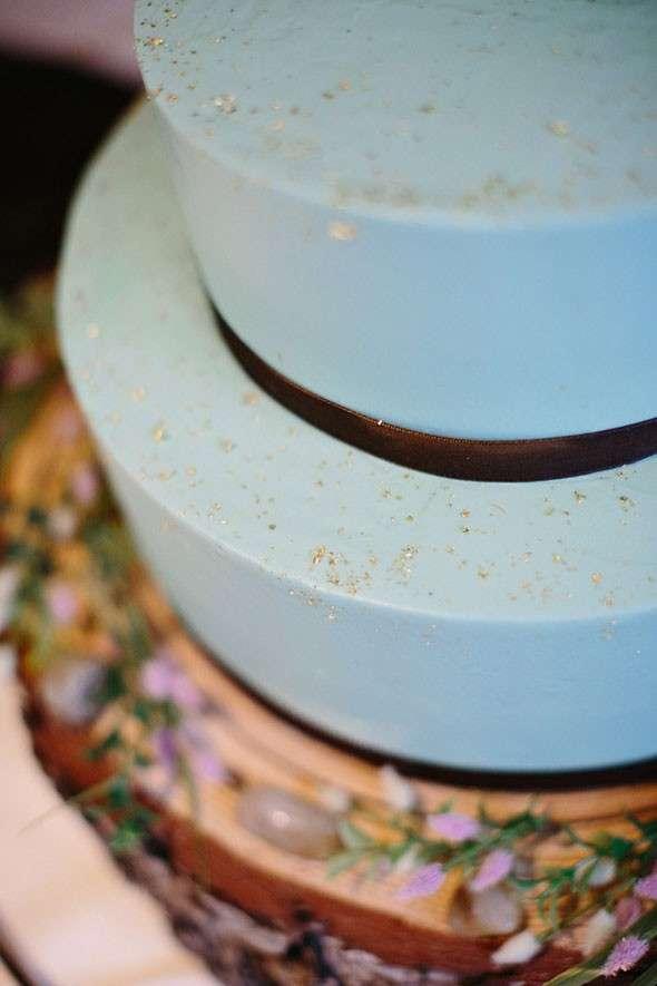 Azzurro per la torta nuziale