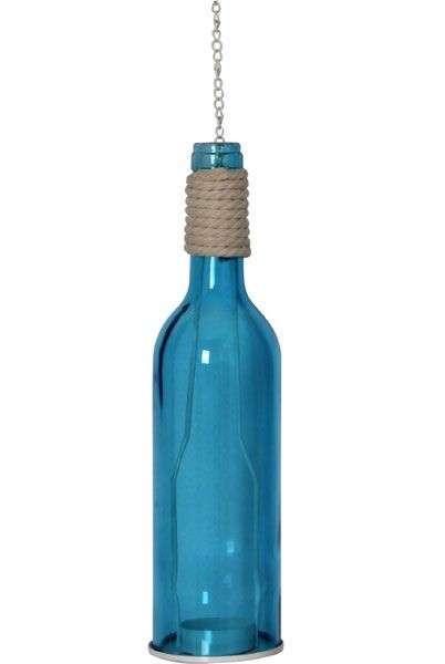 Bottiglia porta candela stile marinaro