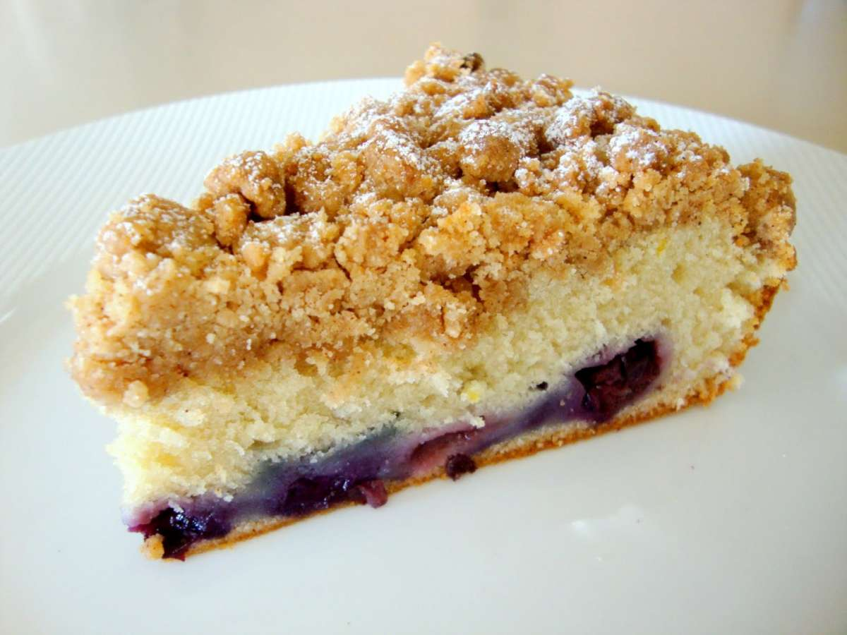 Crumb Cake alle ciliegie