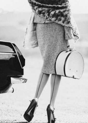 I collant anni '40 con riga