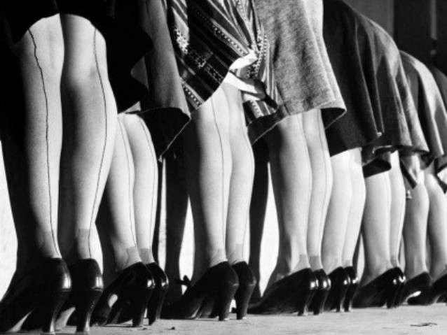 I collant con riga famosi negli anni '40