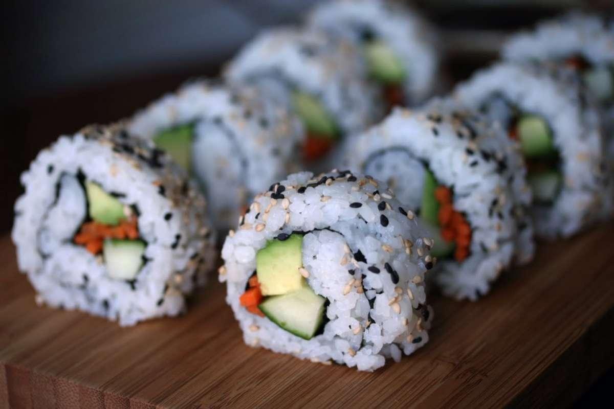 California rolls vegetariani