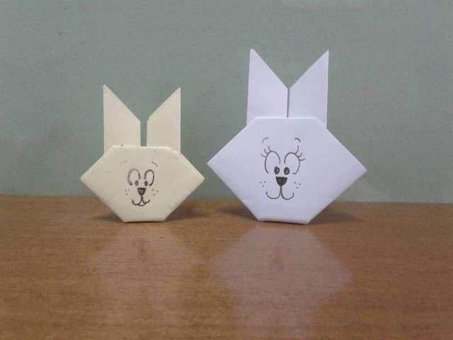 Coniglietti con l'origami