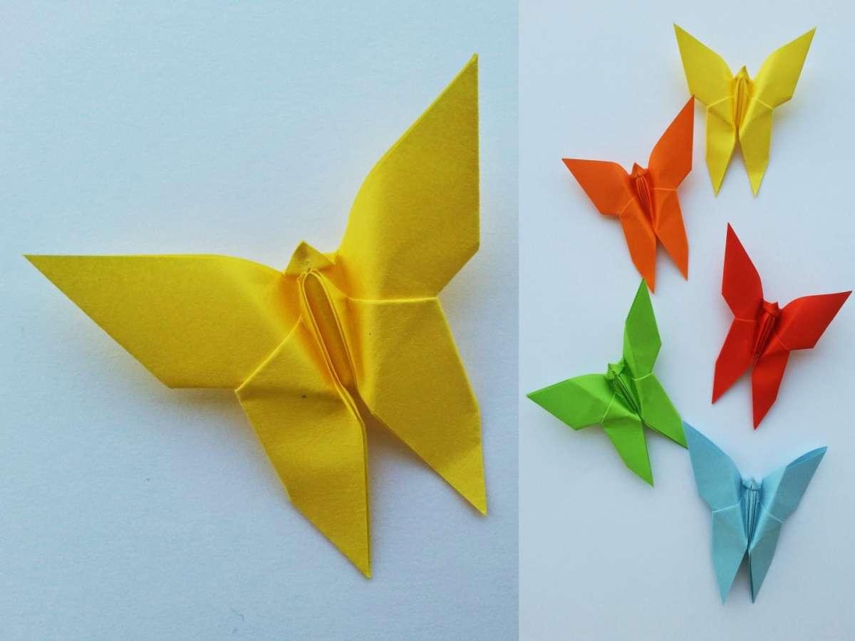 Origami a forma di farfalla