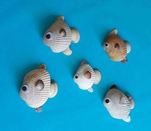 Pesci con conchiglie