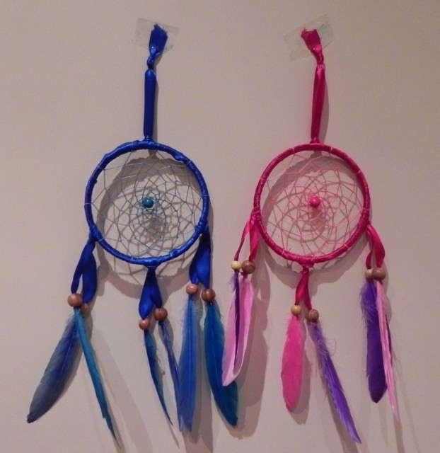 Acchiappasogni blu e rosa