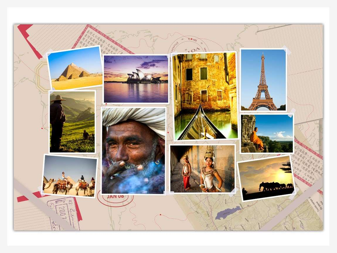 Collage di foto di viaggi