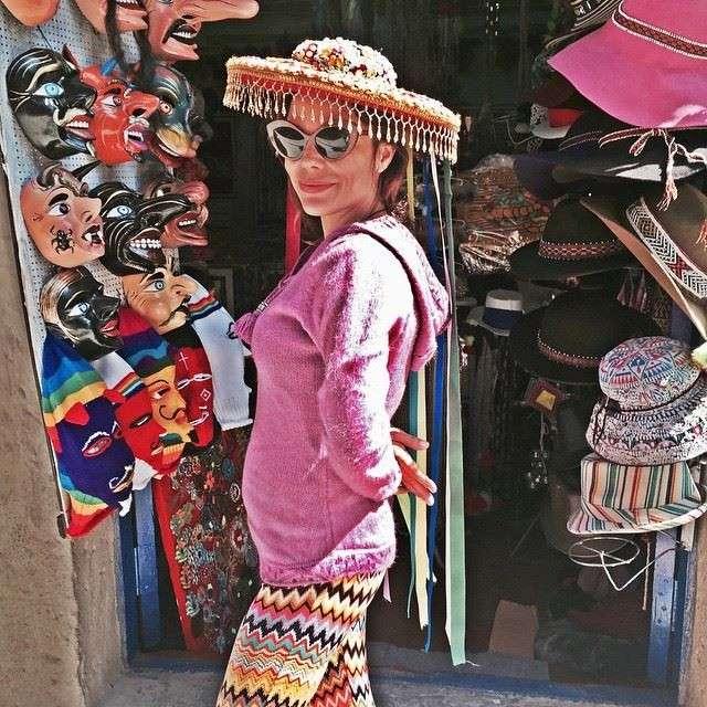 La cantante e attrice italiana in vacanza in Perù