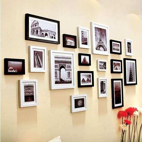 Parete di quadri con le foto