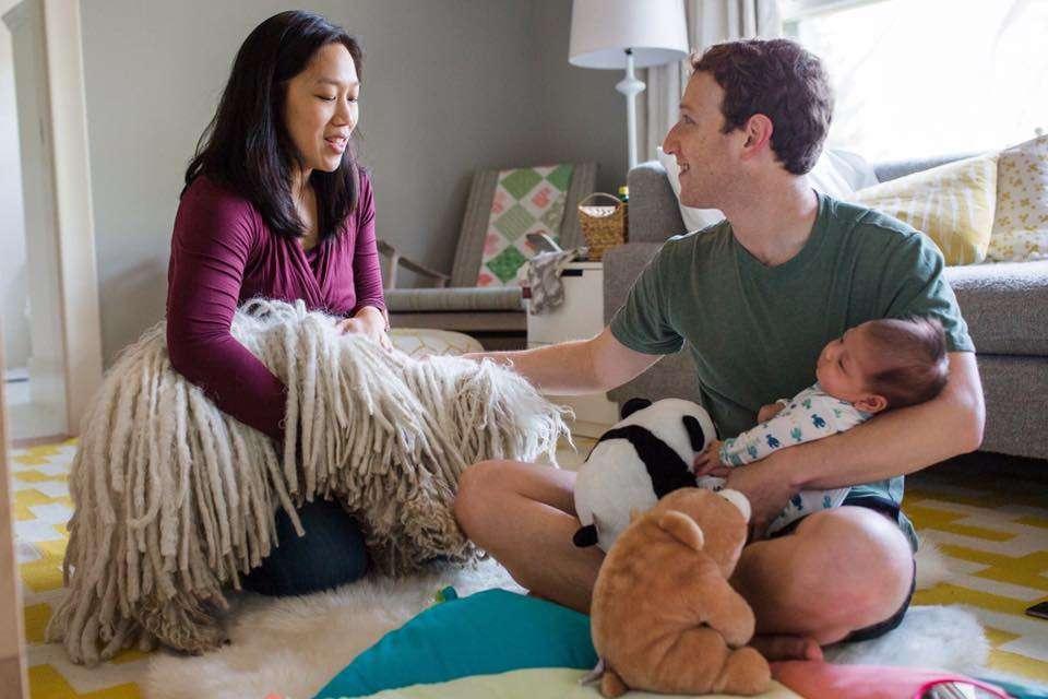 Mark e Priscilla genitori per la prima volta