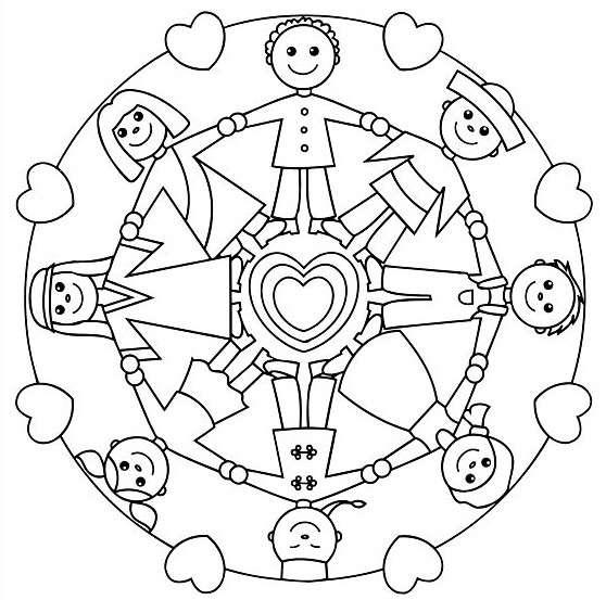 Bambini in cerchio